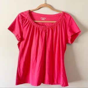 Pink Short Sleeve Top A7